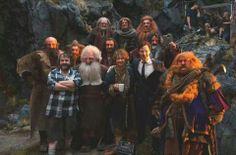 Bilbo, dwarves, Peter Jackson and a famous dragon