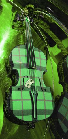 This combines 2 of my favorite things on a Violin - Green and Plaid! Green Life, Go Green, Green And Orange, Shades Of Green, Green Colors, World Of Color, Color Of Life, Green Eyed Monster, Green Park