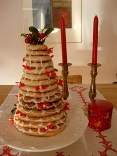 I made this Kransekake several years for Christmas, delicious and beautiful