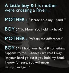 A little boy & his mother were crossing a RIVER... | Share Inspire Quotes - Love Quotes | Funny Quotes | Quotes about Life | Motivational Quotes