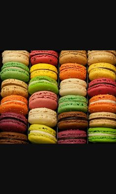 Cute And Yummy !!! Macaroons Differnt And Delicous Flavors Colorful