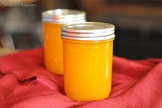 MANGO JAM. Firm (but not hard) mangoes, sugar, lemon zest, pectin, water...Must try.