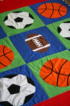 Fly Away Quilts: Applique Basketball Quilt