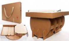 Una mesa de cartón desmontable | Movilae