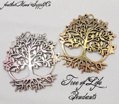 8 Huge Tree of Life Pendants, starting at $6.