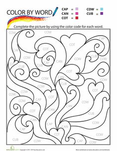 ... worksheets on Pinterest | Color by numbers, Sight words and Worksheets