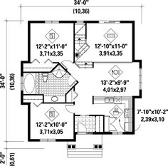 First Floor Plan of House Plan 52330