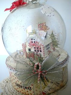 Creating from the Heart: ♥ Santa's Workshop ♥ {A Do-It-Yourself Snow Globe!}