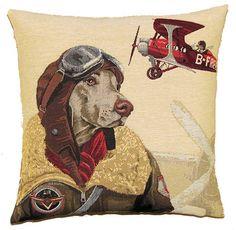 dog bomber pilot red