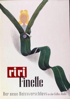 Riri Finette - Der neue Reissverschluss in der Collex-Hülle-Plakat