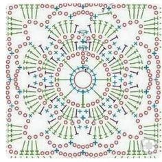 Transcendent Crochet a Solid Granny Square Ideas. Inconceivable Crochet a Solid Granny Square Ideas. Crochet Mandala Pattern, Crochet Motifs, Crochet Blocks, Granny Square Crochet Pattern, Crochet Diagram, Crochet Stitches Patterns, Crochet Chart, Crochet Squares, Crochet Granny