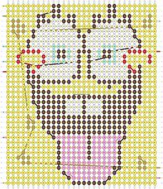 Alpha friendship bracelet pattern added by kacik. Diy Friendship Bracelets Patterns, Diy Bracelets Easy, Beaded Bracelet Patterns, Bracelet Crafts, Seed Bead Bracelets, Bracelet Designs, Seed Beads, C2c Crochet, Crochet Home