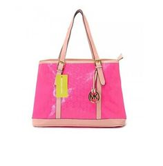 Cheap Michael Kors Amangasett Straw Large Pink Totes Outlet Online With 60% Off Sale.
