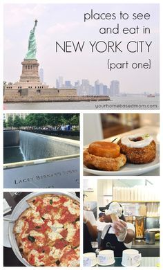 Places to See and Eat in New York City. Awesome tips for your next vacation.
