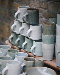 Autumn Oak Glazed Stoneware Handmade Pottery Coffee Mug and Pour Over Autumn Woods Organic Gold Mug and Pour Over Coffee Maker Set