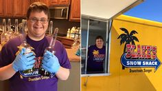 In May, 20-year-old Blake Pyron will open Blake's Snow Shack, making him the youngest business owner in Sanger, Texas -- and the only one with Down syndrome.