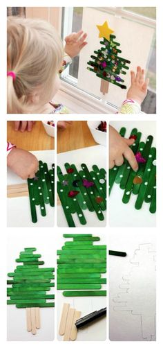 Fun & Simple Holiday Party Craft - Popsicle Stick Christmas Tree