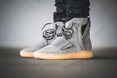 "adidas Yeezy Boost 750 ""Grey/Gum"" On-Foot & Detailed Pictures - EU Kicks: Sneaker Magazine"