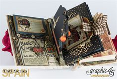 Tati, Hallowe'en in Wonderland., Magical Book, Product by Graphic 45, photo 11