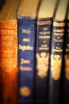Classics - I love the feel and scent of old, well worn books…