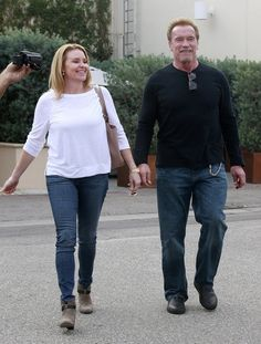 Arnold Schwarzenegger takes his girlfriend out for a date.