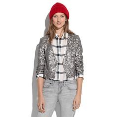 sequin jacket and team zissou hat?! what's not to love