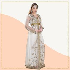 Look elegant as ever in one of Maxim Creation's must-haves! This light weight cream kaftan adorned with multi coloured beads and gold embroidery is sure to be your new favourite outfit this summer and the festive season! Product no: 8569 Kaftan Abaya, Gold Embroidery, Modest Dresses, Modest Fashion, Festive, Gowns, Cream, Beads, Elegant
