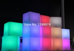 Free Shipping 10*10*10CM Colorful LED Cube LED bar desk lamp, rechargeable LED glowing lighted Cube light for Christmas,club - perfect for adding height on glow bar Voodoo Halloween, Transformer Party, Oil Lamps, Lamp Light, Desk Lamp, Night Light, Wall Lights, Glow, Bar