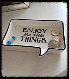 Jewellery Dish - Enjoy the little things
