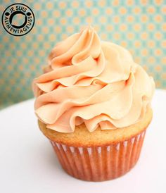 Vanilla Cupcakes with Salted Caramel Swiss Meringue Buttercream