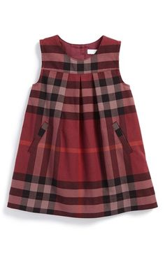Nordstrom Dresses - Burberry Check Print Sleeveless Dress (Baby Girls) available.-- Nordstrom Dresses – Burberry Check Print Sleeveless Dress (Baby Girls) available at Frocks For Girls, Little Dresses, Little Girl Dresses, Girls Dresses, Baby Dresses, Baby Frocks Designs, Kids Frocks Design, Baby Girl Fashion, Kids Fashion