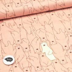 Osos polares - Salmón - Gasa Snoopy, Fictional Characters, Polar Bears, Chiffon, Sewing Patterns, Animales, Fantasy Characters