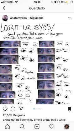 Amazing Learn To Draw Eyes Ideas. Astounding Learn To Draw Eyes Ideas. Anatomy Reference, Drawing Reference, Drawing Techniques, Drawing Tips, Realistic Eye Drawing, Drawing Prompt, Drawing Expressions, Art Prompts, Art Tutorials