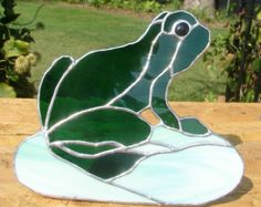 stained glass frog | Freestanding Stained Glass Frog