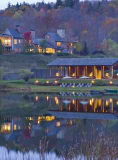 Twin Farms Inn Vermont Resort and Spa. The next best thing (maybe better) to a cabin of your own.