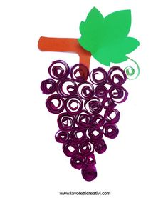 Grapes-printmaking or fingerprint or quilling Fall Crafts, Diy And Crafts, Crafts For Kids, Arts And Crafts, Color Wars, Initial Wreath, Autumn Activities For Kids, Fruit Of The Spirit, Spring Art