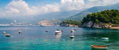 Coast in Sveti Stefan, Montenegro