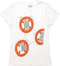 Star Wars Force Awakens I Am BB-8 Costume Juniors T-shirt