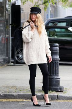 These super chic OVERSIZED KNITS will also help you stay warm during cold winter days: http://www.clubfashionista.com/2014/11/knit-dresses.html #knits #fashion #clubfashionista #fashion