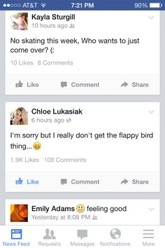 This is a post from Chloe's official Facebook page (like page) and you know what I have to say (well I can't way that) but anyways I have one word AMEN AND TWO MORE WORDS PREACH SISTER!!!! I get Flappy Bird but I suck at it and it's hard!! www.flappybirds.co.uk www.flappygame.com Flappy Bird, Best Facebook, Drive Me Crazy, More Words, Angry Birds, Going Crazy, Amen, Sisters, Sayings