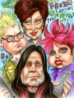 The Osbournes (by Tom Richmond)
