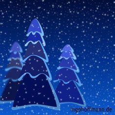 Tannen im Winterwald mit Moho 12 gezeichnet (früher Anime Studio). Anleitung zum nachzeichnen im Blog-Post!