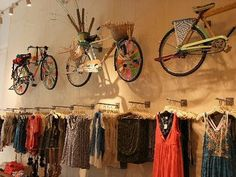 All things bikes & clothing display