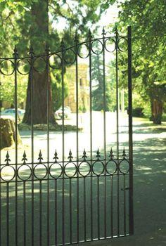 Royal Talisman wrought iron driveway gates by The Garden Gate Sale
