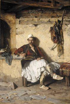 Albanian Resting, c. 1890 by Pavle Paja Jovanović (Serbian 1859 – 1957)