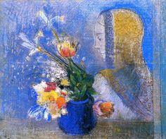Odilon Redon(1840ー1916)「Meditation」