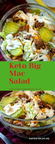 Keto Big Mac Salad Low Carb Hamburger Salad lowcarb salad I kid you not this tastes JUST like a Big Mac except it s low carb and you know exactly what went into it Ketogenic Recipes, Low Carb Recipes, Diet Recipes, Healthy Recipes, Ketogenic Supplements, Dessert Recipes, Delicious Recipes, Diet Desserts, Diet Drinks