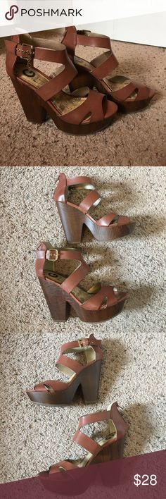 a09d4d1813ce81 NWOT G by Guess Heels Never worn. Adorable chunky block heel. Buckle side  detail