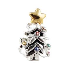♥ #Pandora #Charms exclusively at #CapriJewelersArizona ~ www.caprijewelersaz.com ♥  Colorful Christmas tree Pandora Charms