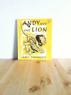 Andy and the Lion Vintage Kids Book 1970s Retro Children's Animal Tale 70s Pet Lion Story Yellow Paperback Adventure Boys Cute Read Fun